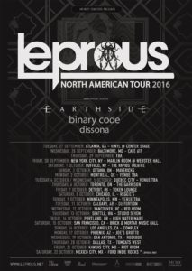 Leprous with Earthside, Binary Code, Dissona - Oct 12, 2016. Red Room Ultrabar. Vancouver BC @ Red Room Ultra Bar (Vancouver) |  |  |