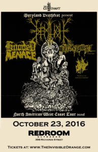 Demilich/Hooded Menace/Vastum/Temple Of Abandonment @ Red Room Ultra Bar (Vancouver) |  |  |