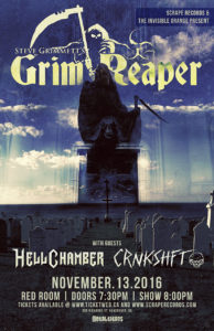 Grim Reaper / Hellchamber / Crnkshft - Vancouver, BC Nov.13 @ Red Room Ultra Bar (Vancouver) |  |  |