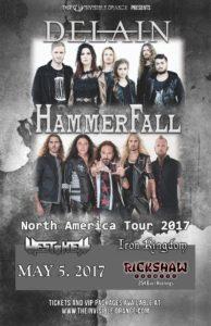 Delain & Hammerfall co-headlining tour 2017 - May 5 at Rickshaw @ Rickshaw Theatre |  |  |