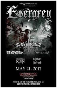 Evergrey, Seven Kingdoms and many more! May 21 at Rickshaw @ Rickshaw Theatre |  |  |