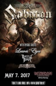 Sabaton! with Leaves Eyes and Battle Beast at Vogue Theatre @ The Vogue Theatre |  |  |