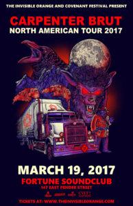 Carpenter Brut feat. Magic Sword. March 19 - Fortune Sound Club Vancouver @ Fortune Sound Club |  |  |