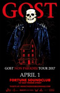 GosT - Live at Fortune Sound Club. April 1, 2017 @ Fortune Sound Club |  |  |