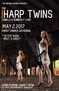 The Harp Twins: Camille and Kennerly. May 2 in Vancouver BC @ Christ Church Cathedral Vancouver |  |  |