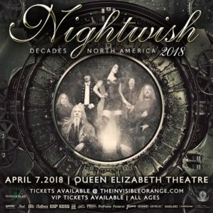 Nightwish :: Queen Elizabeth Theatre @ Queen Elizabeth Theatre | Vancouver | British Columbia | Canada