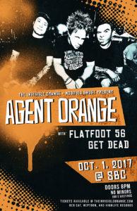 Agent Orange / Flatfoot 56 / Get Dead. October 1 at SBC @ SBC Restaurant
