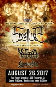 Frosttide with Valfreya and Gladius Sky. Aug 26 at Red Room @ Red Room Ultra Bar (Vancouver)