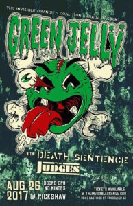 Green Jello / Death Sentence / The Judges. Aug 26 at Rickshaw @ Rickshaw Theatre
