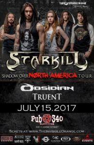 Starkill / Obsidian / Truent. July 15 at Pub 340 @ The Pub 340