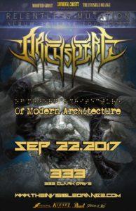 Archspire (Album Release) :: 333 Hall @ 333   Vancouver   British Columbia   Canada