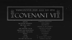 COVENANT FESTIVAL VI - VANCOUVER @ Juyl 1 at Astoria; July 2,3,4 at Wise Hall