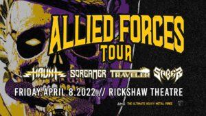 Allied Forces Tour: HAUNT, Screamer, Traveler, Saber @ Rickshaw Theatre